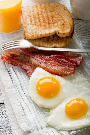 eggs with bacon for breakfast Stock Photo - 8979091