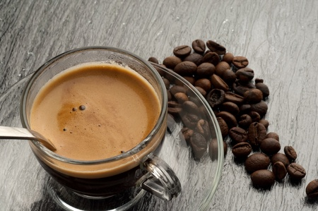 arabica: cup of coffee Stock Photo