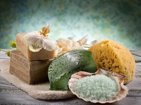 skin scrub: spa and bath concept