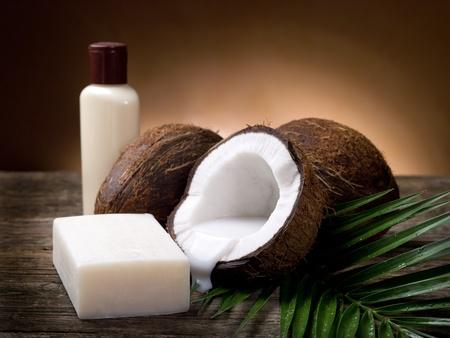 walnut coconut soap Stock Photo - 9613921