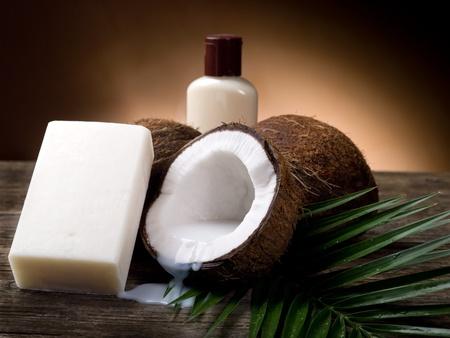 coconuts: walnut coconut soap