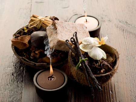 wooden aromatherapy: aromatherapy spa concept
