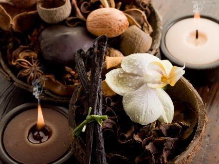 aroma bowl: aromatherapy spa concept