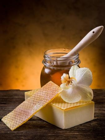 bar of soap: natural homemade honey soap