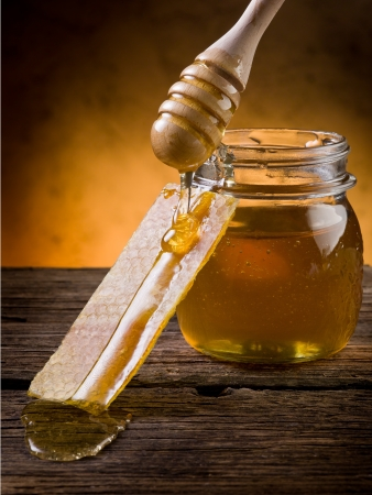 honey with beeswax  photo