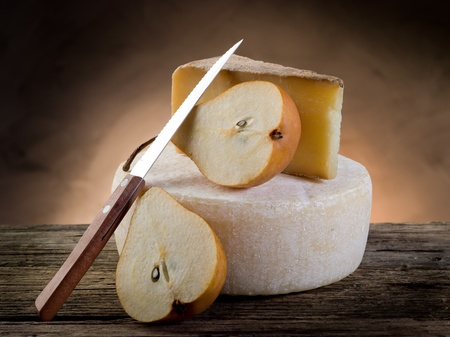 cheese and pears photo