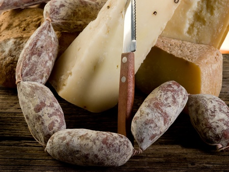 sausage and cheese photo