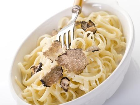 truffle: tagliatelle with truffle and cream sauce