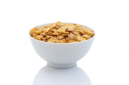 cornflakes: bowl with cereals