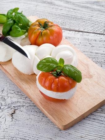 mozzarella and tomato photo