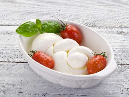 string mozzarella and tomato photo