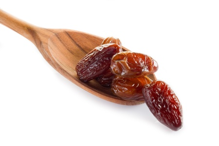 dates on white background photo