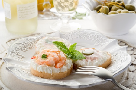 canapes appetizer Stock Photo - 10242356