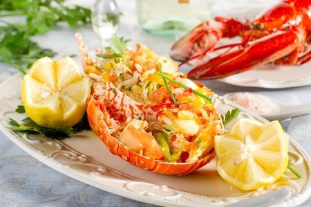 catalan lobster- aragosta alla catalana photo