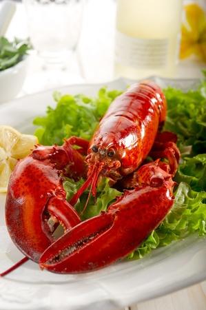 lobster: 샐러드와 전체 가재 - Aragosta의 전자 insalata