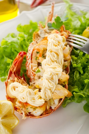 lobster with mayonnaise sauce- Aragosta con maionese Stock Photo - 10242548