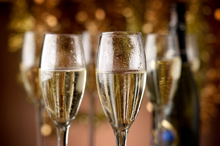 flutes with champagne photo