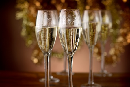 bubbly: flutes with champagne