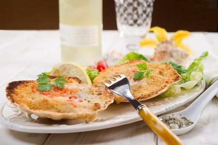 scallop: scallop au gratin