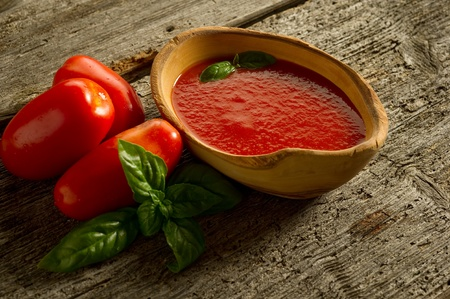 bowl with tomato sauce photo