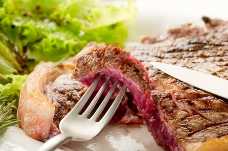 specialty: grilled t.bone on dish
