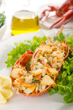 lobster with salad Stock Photo - 10250814