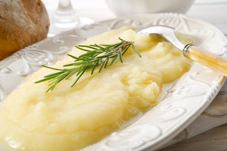 mashed potatoes: mashed potatoes Stock Photo