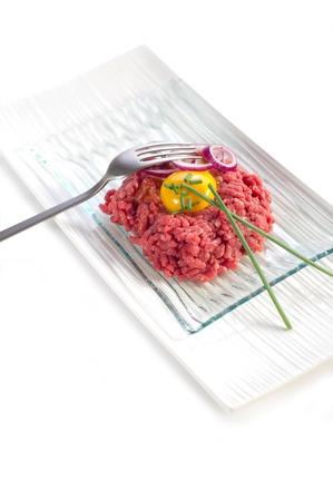 tartare: tartare meat Stock Photo