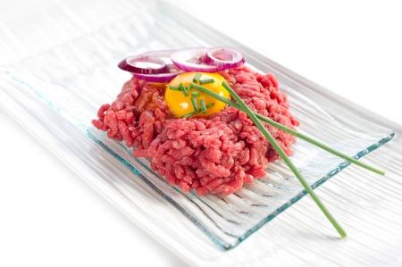 steak tartare: tartare meat Stock Photo