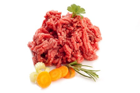 grinded: grinded meat with ingredients Stock Photo