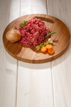 MEAT LOAF: raw grinded meat with ingredients