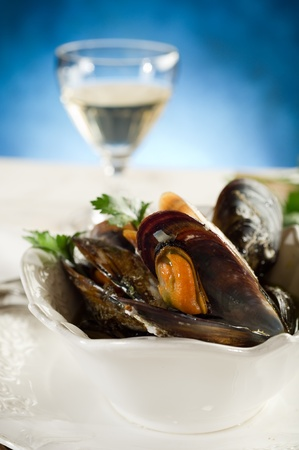 mussel soup photo