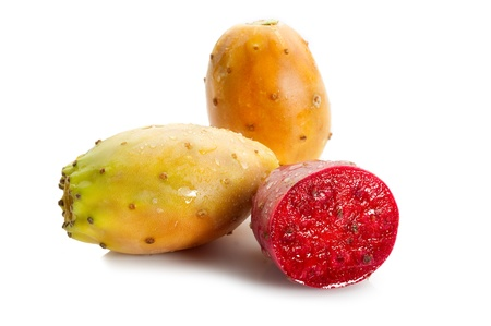 figs: prickly pear fruit  Stock Photo