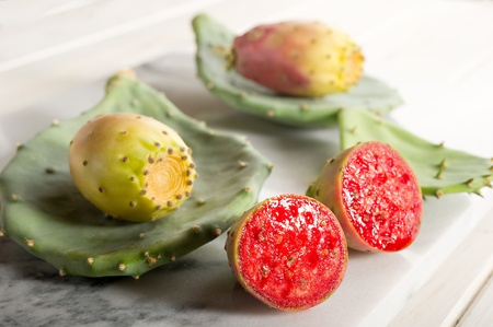 prickly: prickly pear fruit  Stock Photo
