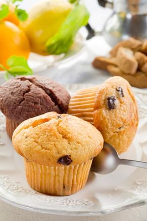 scone: muffin on dish