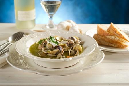 clam soup photo
