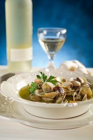 seafood soup: clam soup