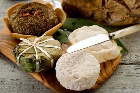 cheeseboard: variety french cheese Stock Photo