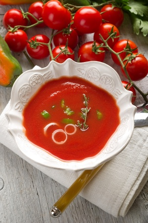 gazpacho: gazpacho on bowl