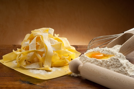 homemade style: ingredients for italian homemade pasta Stock Photo