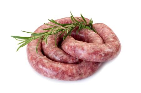 cooked sausage: raw sausage