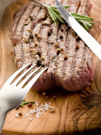 grilled tenderloin with pepper and rosemary photo