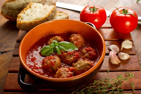 meat balls with tomatoes sauce photo