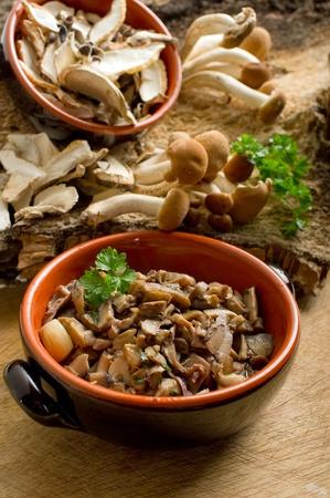 stuffed cep mushroom photo