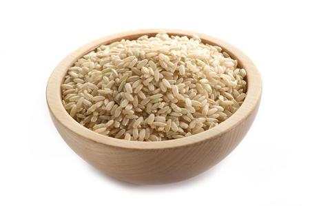 whole rice on white photo