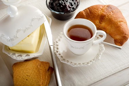 english breakfast tea: continental breakfast