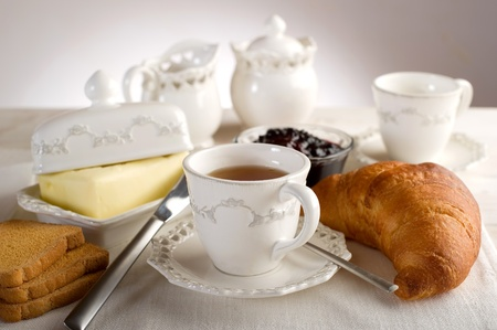 pewter: continental breakfast