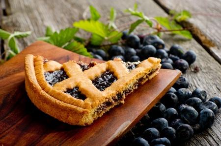 homemade cake: blueberry homemade cake Stock Photo