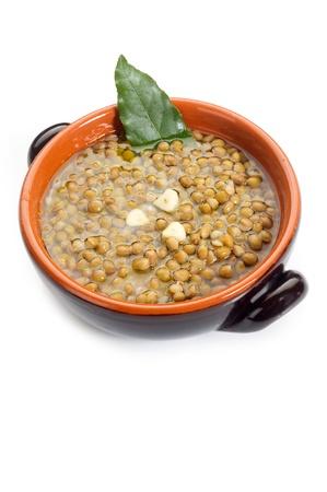 lenteja: sopa de lentejas en bowl