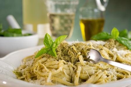 wine and dine: italian pesto pasta